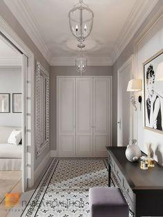 Incredible summer entrance hall interior design projects – Page 7 Hallway Decorating, Entryway Decor, Decorating Ideas, Hall Interior Design, Design Bedroom, Bedroom Ideas, Tiled Hallway, Hall Flooring, Flur Design