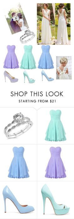"""""""Summer Wedding"""" by miahadams ❤ liked on Polyvore featuring Gianvito Rossi, Casadei and Brian Atwood"""