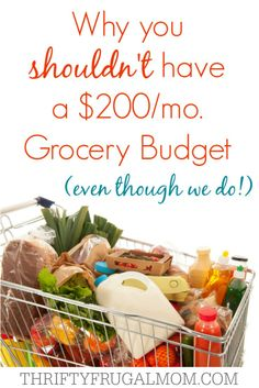 Why You Shouldn't have a $200/mo. Grocery Budget (even though we do!)....there is no cookie cutter grocery budget that will fit everyone!