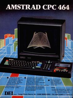 The Amstrad CPC computer, featuring an integrated tape recorder. It wasn't as successful as the Commodore 64 or the Sinclair ZX Spectrum, but a lot of games were available for the Amstrad as well. Alter Computer, Computer Case, Gaming Computer, Vintage Advertisements, Vintage Ads, Light Grid, Digital History, Old Technology, Retro Video Games