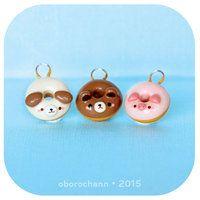 Animal donut charms by Oborochann