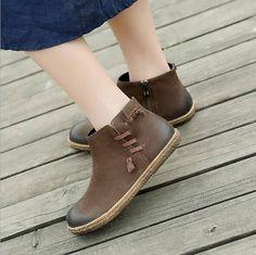 Plano hecho a mano zapatos para mujer, zapatos Oxford, botines de tobillo, zapatos muy cómodos de cuero de las mujeres Zapatos más: https://www.etsy.com/shop/HerHis?ref=shopsection_shophome_leftnav ♥♥♥♥♥♥If no sabes que tamaño tiene que elegir, por favor dígame el tamaño que suelen llevar en