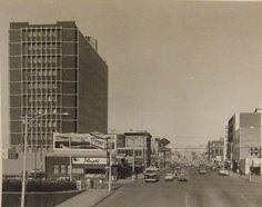 109 St and Jasper Ave, looking east, City Landscape, Skyscrapers, Alberta Canada, Back In The Day, Jasper, Cool Photos, The Past, Memories, History