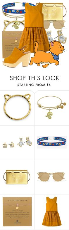 """""""Toulouse"""" by fabulousgurl ❤ liked on Polyvore featuring Bling Jewelry, Betsey Johnson, Charlotte Olympia, Le Specs, Dogeared, Fendi, Disney, Rachel Comey, disneybound and aristocats"""