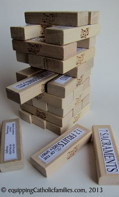 Catholic Jenga: Enjoy a game nights with your kids while learning about God!