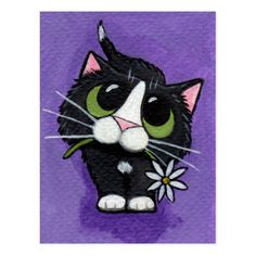 Cat Art by Lisa Marie Robertson Image Chat, Cat Drawing, Crazy Cats, Rock Art, Cat Art, Painted Rocks, Cats And Kittens, Cute Cats, Illustrator
