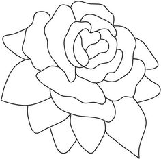 Pink Rose Stained Glass Pattern