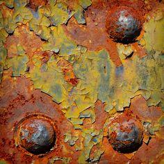 orange, yellow, sky blue and rust.