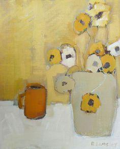 Yellow Pansies by Bridget Lansley