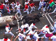Running of the Bulls in Pamplona, Spain. Almost went...maybe someday.