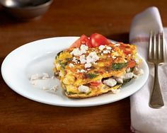 Open-Face Feta Omelet Recipe