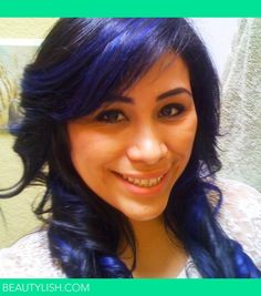 Midnight Blue Hair   Gloria M.s Photo   Beautylish - peekaboo color