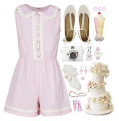 """""""I'm not a piece of cake"""" by d-o-ll-y-h-a-z-e ❤ liked on Polyvore featuring See by Chloé, Lomography, Topshop, John Lewis and Betsey Johnson"""