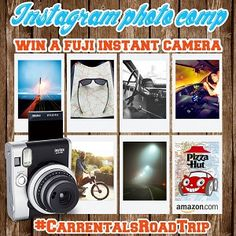 Our new #competition starts today! Upload your roadtrip pictures using the tag #carrentalsroadtrip to Instagram for your chance to win a #Fujifilm camera and #Amazon and #Pizzahut vouchers. T+C's apply. Keep looking for 'Pic of the week', it might be yours! Fujifilm Instax Mini 90, Compare Cars, Instagram Giveaway, Latest Instagram, Pizza Hut, Competition, Road Trip, Amazon, Blog