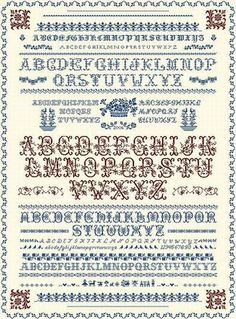 FREE Sampler PDF cross stitch chart