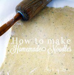 How to make homemade Noodles
