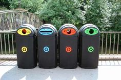 Recycling banks and recycling bins