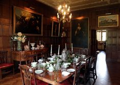 The magnificent Dining Room immediately transforms visitors to a bygone era