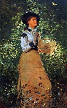 Winslow Homer The Butterfly Girl 1878