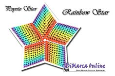 TUTORIAL RAINBOW 3D PEYOTE STAR + Basic Instructions Little 3D Peyote Star This beading pattern provides a colour diagram and text to create the Rainbow 3D Peyote Star. Included are also thestep by step instructions with clear 3D images of how to create a 3D Starin peyote: Little 3D