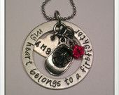 JBK Custom hand stamped My Heart Belongs to a Firefighter necklace  Jewelry By Karen