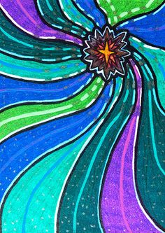 "Original ACEO ""North Star"" OOAK ATC Illustration by MangaSketch, $10.00"