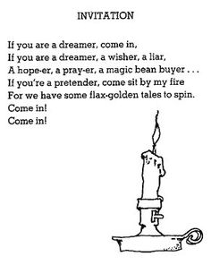 Invitation by Shel Silverstein (getting this little candlestick in the next few weeks)