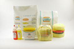 Burger Bubbles by Claudia Yuen, via Behance