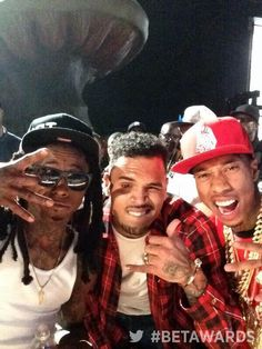 Lil Wayne, Chris Brown & Tyga ❤️❤️❤️ #BETAwards2014