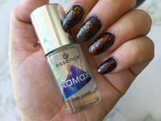 MANICURE MONDAY - Essence Galaxy Inspired - Essence Colour Boost High Pigment nail polish in the colour Instant Adventure and Glamaxy Far Far Away top coat Galaxy Nails, Jan 2018, Top Coat, Mascara, Manicure, Nail Polish, Colour, Adventure, Inspired