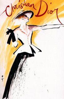 The epitome of post-war elegance. Dior  1940s  New Look  illustration