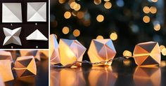 How to Make Paper Cube String Lights - DIY & Crafts - Handimania