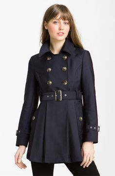 Kenneth Cole New York Double Breasted Skirted Trench
