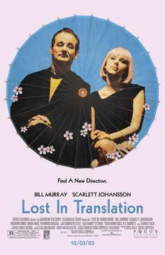 Sofia Coppola Lost In Translation (Bill Murray, Scarlett Johansson) Movies Showing, Movies And Tv Shows, Critique Film, Bon Film, Cinema Posters, Alternative Movie Posters, Film Serie, Moving Pictures, Music Tv