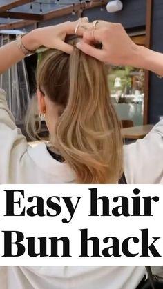 Easy Bun Hairstyles, Long Hair Hairdos, Curl Long Hair, Girl Hairstyles, Medium Hair Styles, Long Hair Styles, Hair Upstyles, Great Hair, Hair Videos