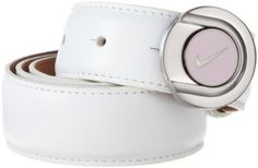 Nike Golf Women's Ball Marker Belt, White, Small Nike. $45.00. 35 mm width sizes are x-small - large. Hand Wash. 100% Leather Lead Free Buckle. Breathability technology perforated strap from buckle to tip