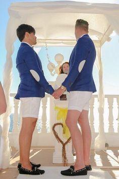 Gay beach wedding