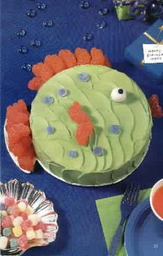 Fish shaped cake birthday ideas pinterest fish and cakes for Fish shaped cake