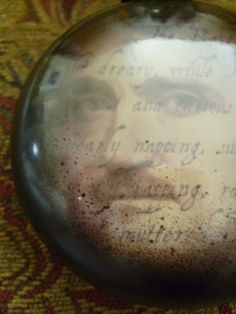 Halloween Glass Ornament Edgar Allan Poe by valeriotedesign
