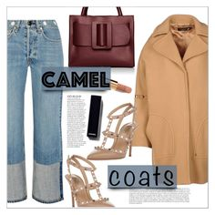 """Camel Coats..."" by chocohearts08 ❤ liked on Polyvore featuring CristinaEffe, rag & bone, Boyy, Anja, Valentino and Chanel"