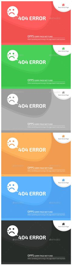 Buy 404 Error Page by shoroj on GraphicRiver. Clean and Unique Design. Easy to Change Color and Text. Error Page, Website, Color Change, Colorful Backgrounds, Photoshop, Graphic Design, K2, Purple, Blue