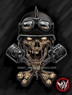 BIKER HEAD by rheen.deviantart.com