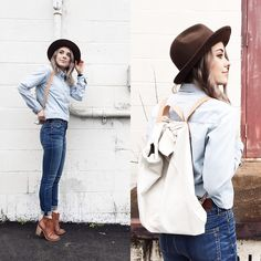 Get this look: http://lb.nu/look/7327606  More looks by Mary Ellen  Skye: http://lb.nu/user/619401-Mary-Ellen-S  Items in this look:  Madewell Jeans   #ootd #denim #madewell #wiwt #backpack #hat #everydaymadewell #denimtuxedo #casual
