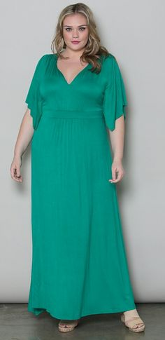 Green Maxi Dress from SWAK