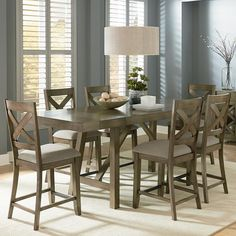 Lark Manor Castagnier Counter Height Dining Table Top Finish