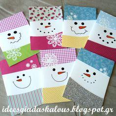 Κάρτες χιονανθρωπάκια!