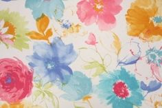 Richloom Wondrous  Printed Poly Outdoor Fabric in Garden $8.95 per yard