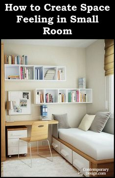 Interior Design Ideas for Small Houses : bedroom interior design ideas for small bedroom. Bedroom interior design ideas for small bedroom. Small Bedroom Hacks, Small Bedroom Designs, Small Room Decor, Decor Room, Bedroom Decor, Home Decor, Bedroom Furniture, Teen Bedroom, Furniture Ideas