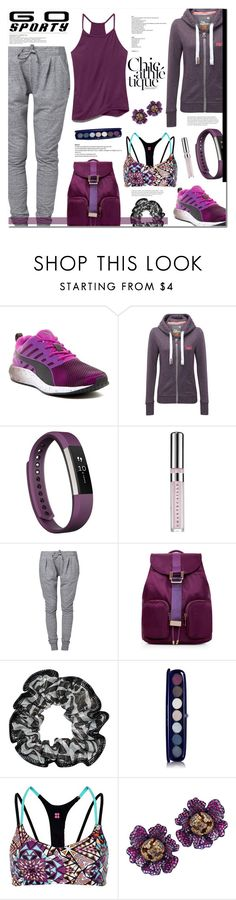 """""""Spring trend: athleisure."""" by sinesnsingularities ❤ liked on Polyvore featuring Puma, Superdry, Fitbit, Chantecaille, Roxy, Givenchy, Sweaty Betty, Nisan, Under Armour and contestentry"""