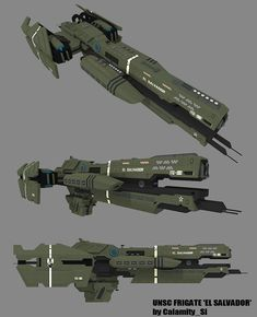 UNSC FRIGATE - 'EL SALVADOR' by ~calamitySi on deviantART